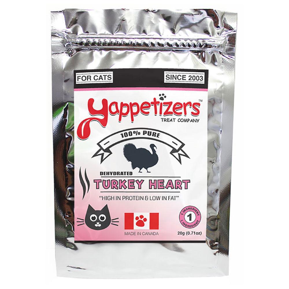 Yappetizers Turkey Heart Dehydrated Cat Treats, 20-gram