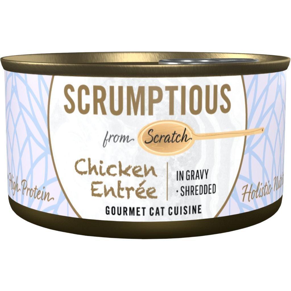 Scrumptious Gourmet Chicken Entrée Wet Cat Food, 2.8 oz