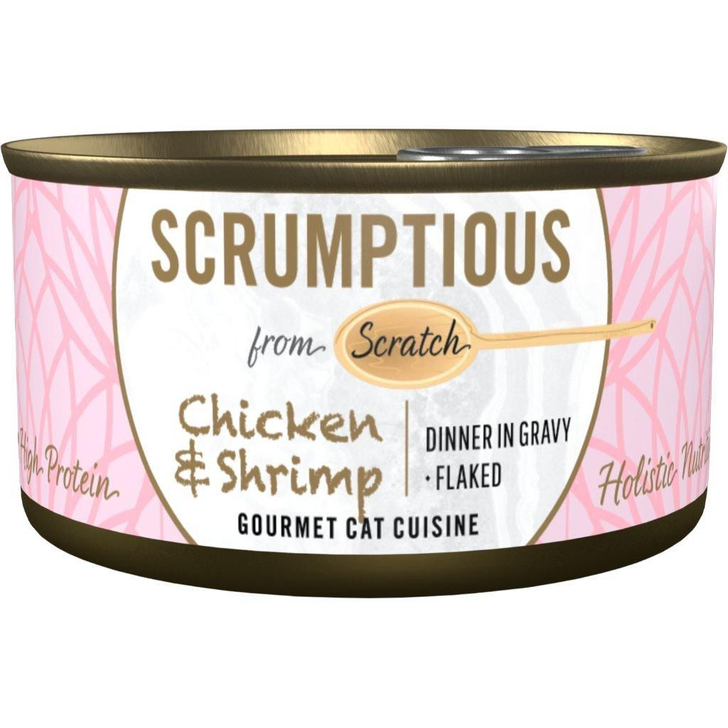 Scrumptious Gourmet Chicken & Shrimp Wet Cat Food, 2.8 oz