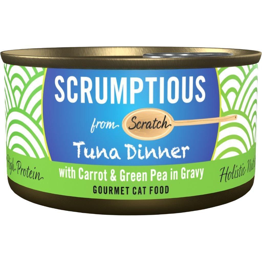 Scrumptious Gourmet Tuna Dinner with Carrots & Green Pea Wet Cat Food, 2.8 oz