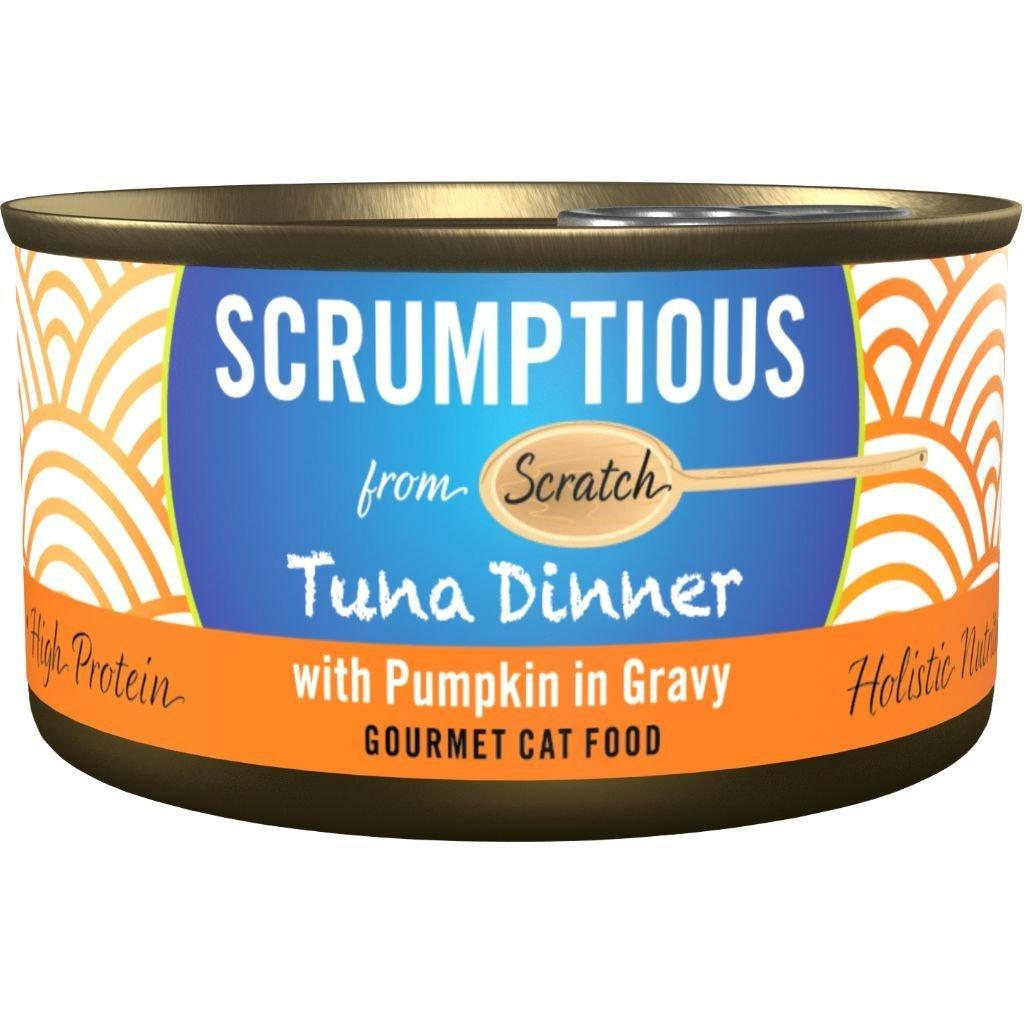 Scrumptious Gourmet Tuna Dinner with Pumpkin in Gravy Wet Cat Food, 2.8 oz