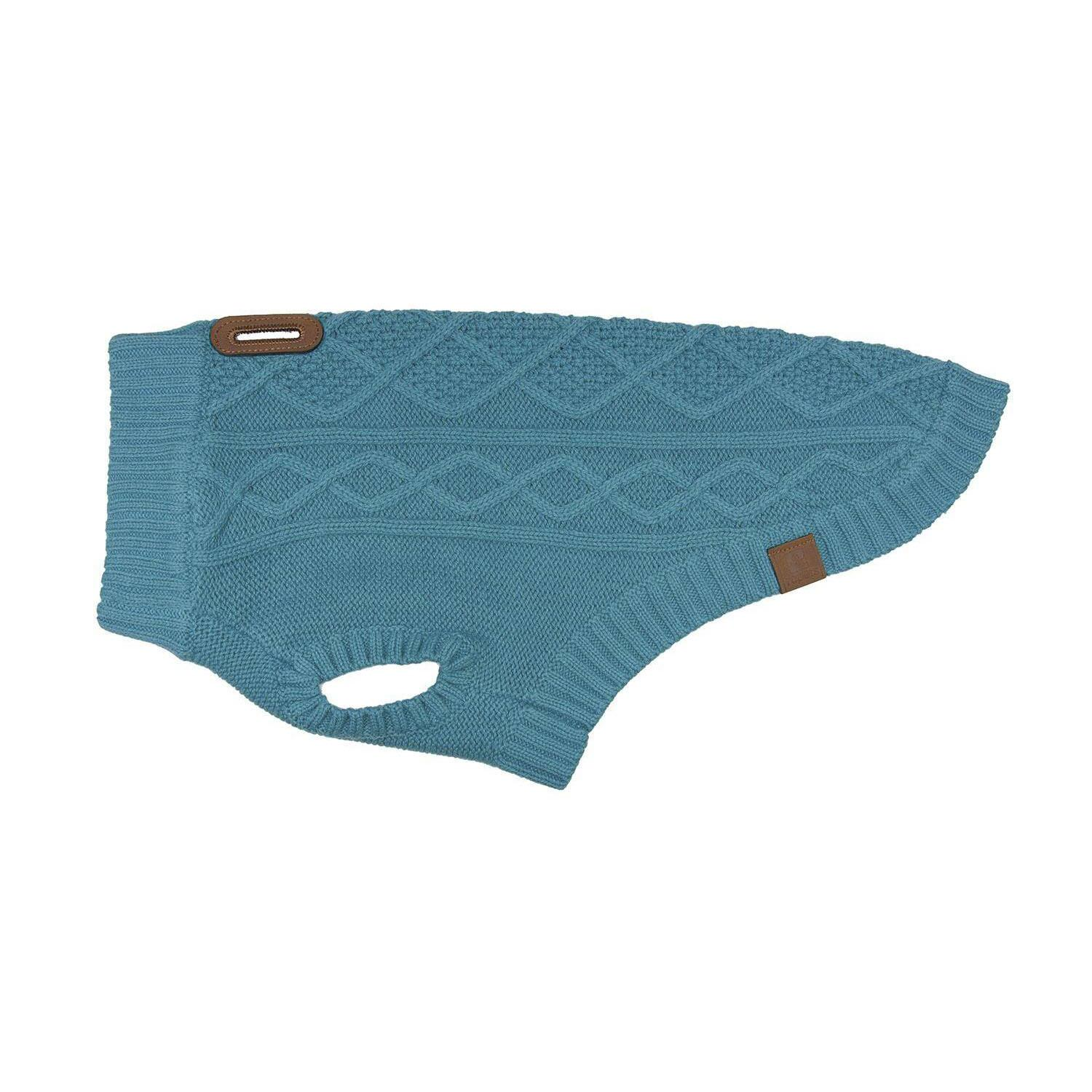 RC Pet Cable Sweater, Teal, XX-Small