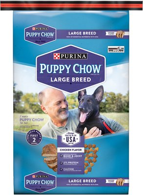 Puppy Chow Large Breed Chicken Flavor Formula Dry Dog Food, 32-lb bag