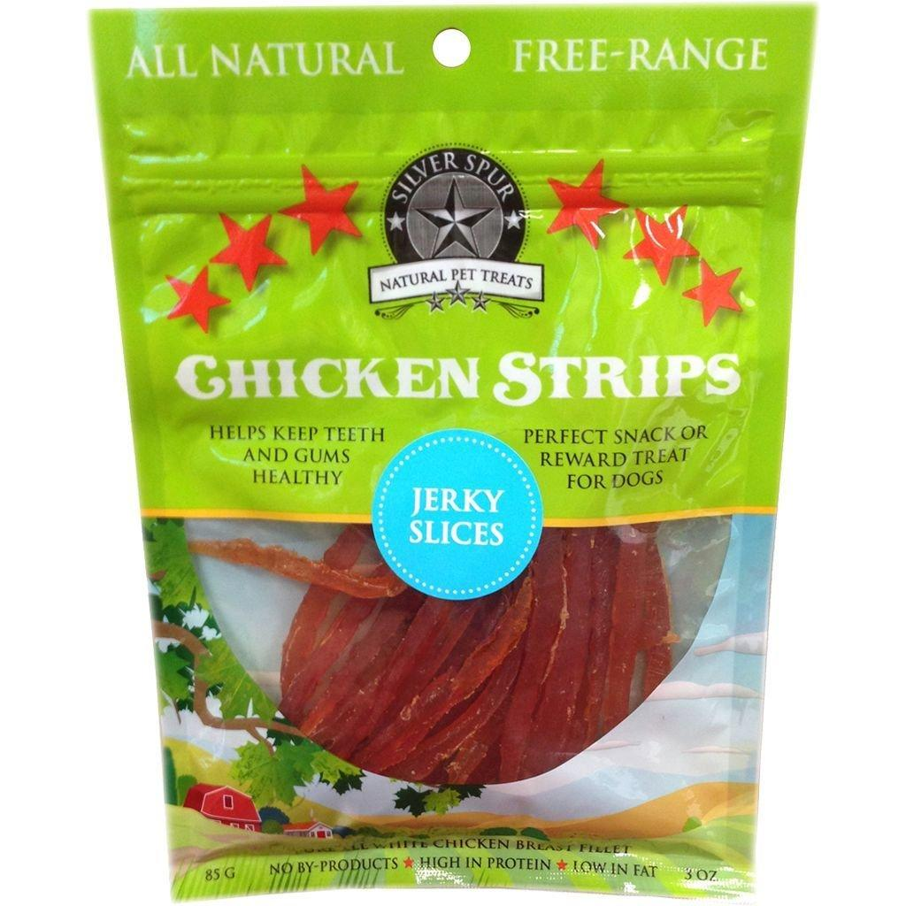 Silver Spur Chicken Strips Jerky Slices Dog Treats, 85-gram