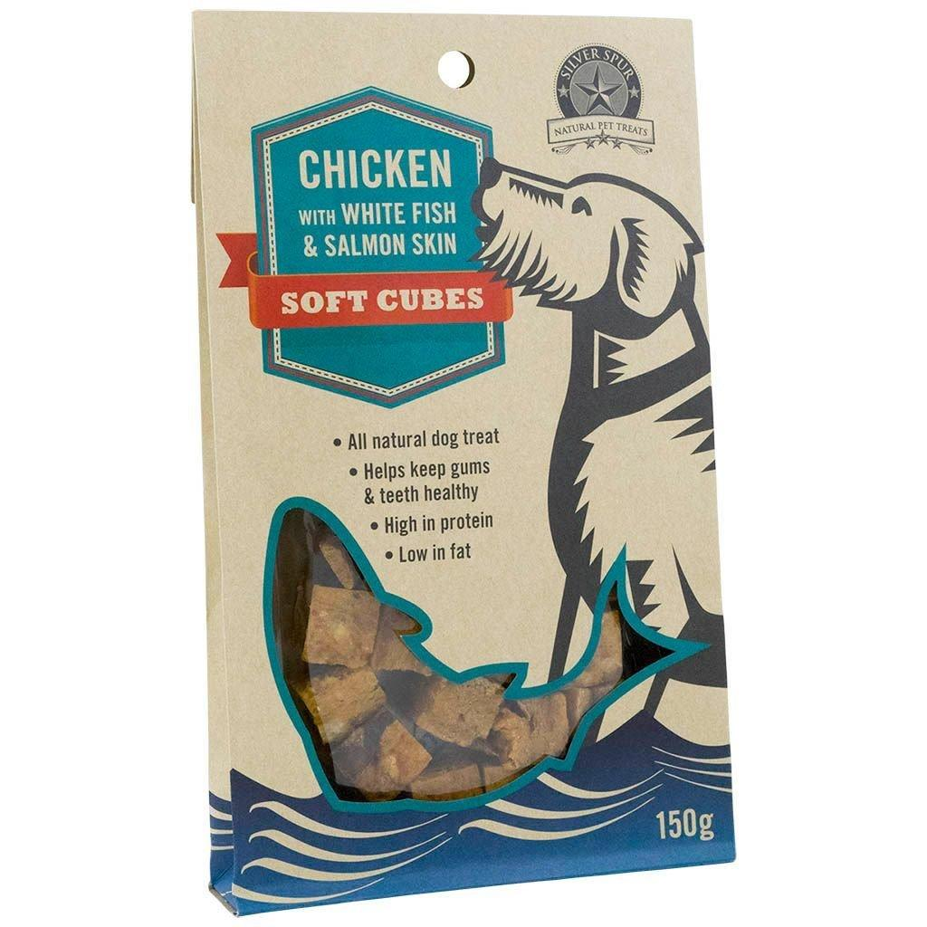 Silver Spur Chicken Soft Cubes Dog Treats, 150-gram