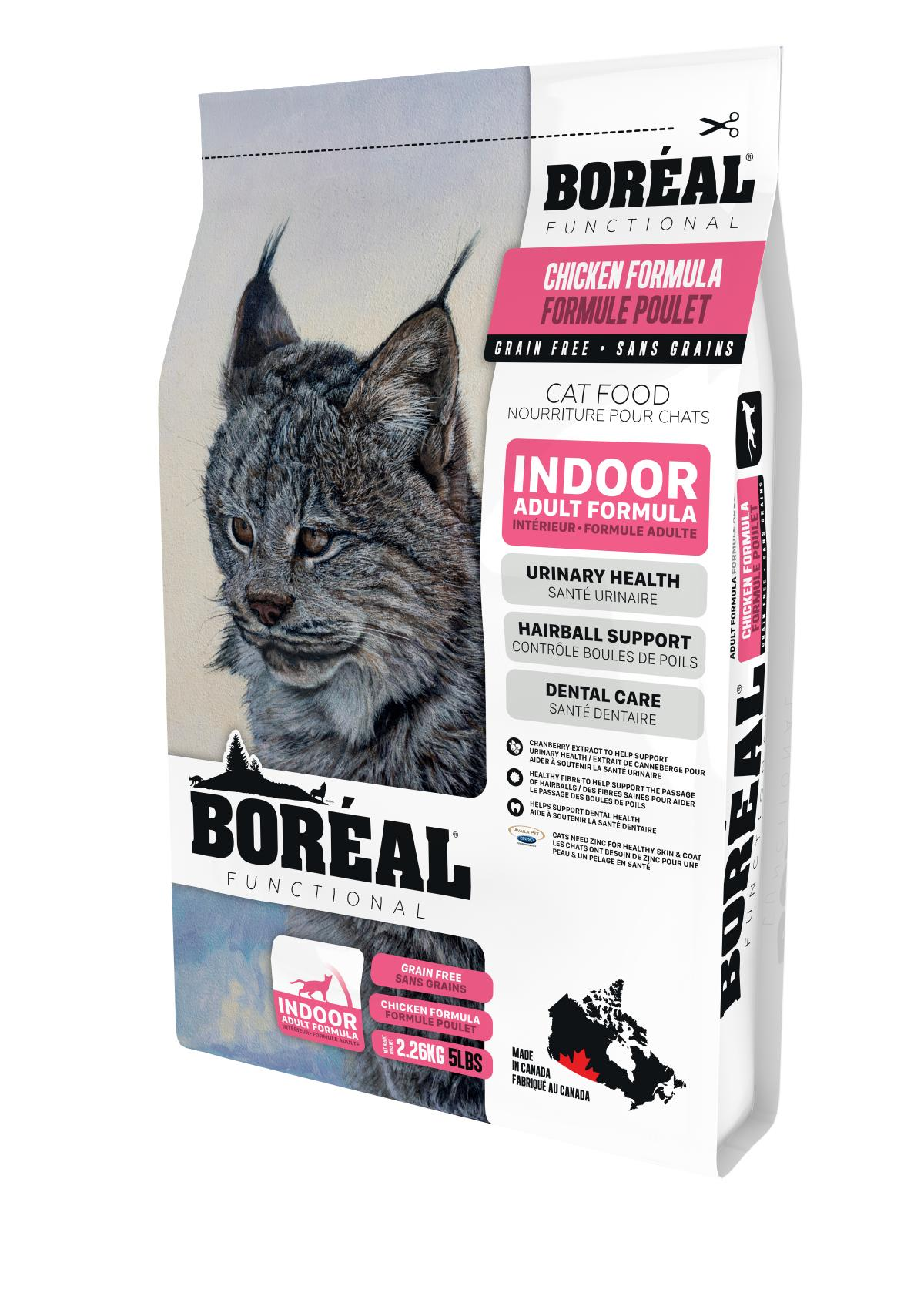 Boreal Functional, Indoor, All Breeds, Chicken Formula Dry Cat Food, 2.26kg Size: 2.26kg