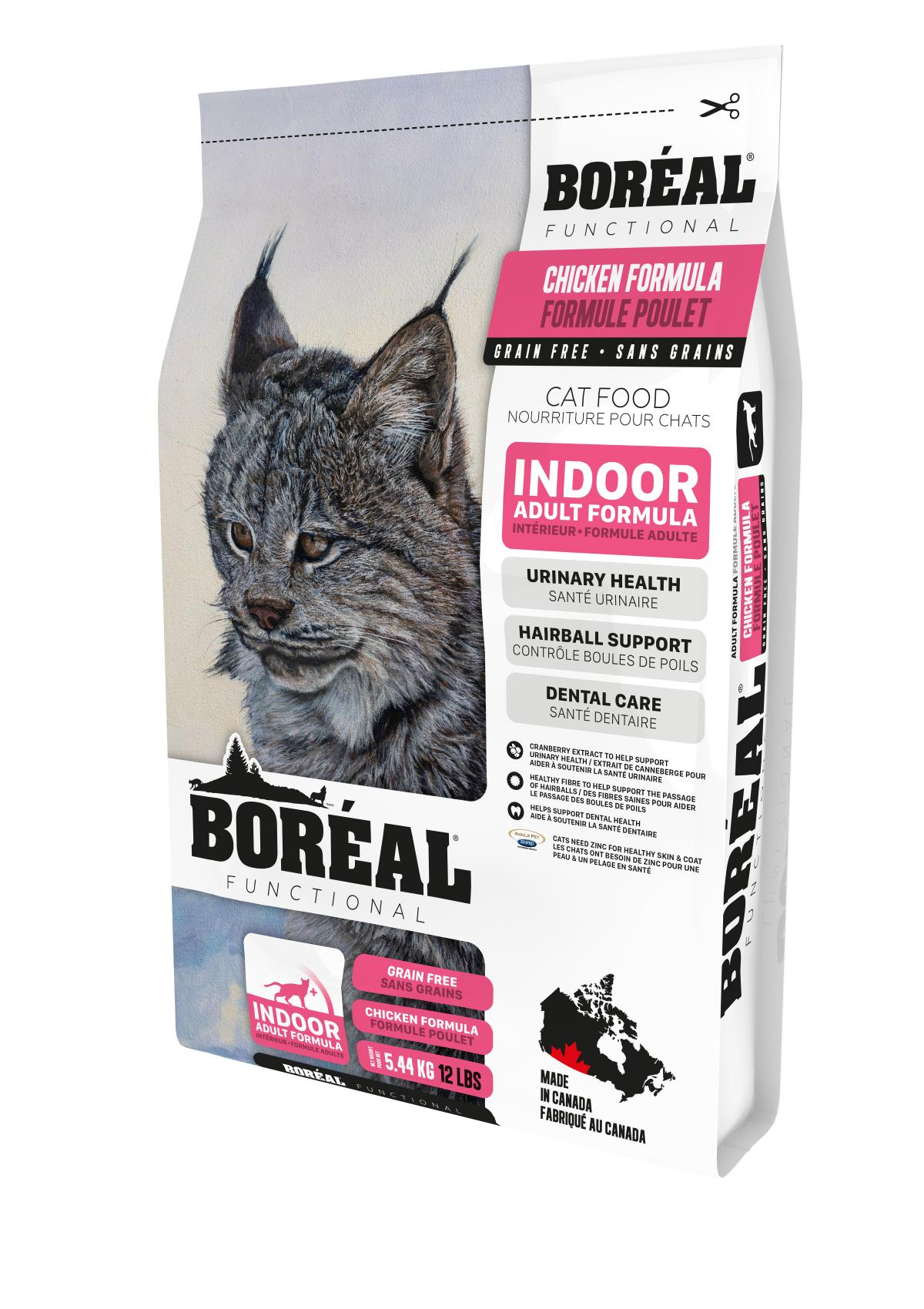 Boreal Functional, Indoor, All Breeds, Chicken Formula Dry Cat Food, 5.44kg