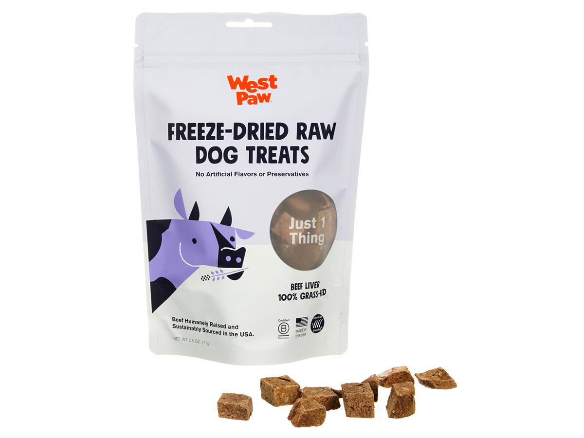 West Paw Beef Liver Freeze-Dried Raw Dog Treats, 2.5-oz