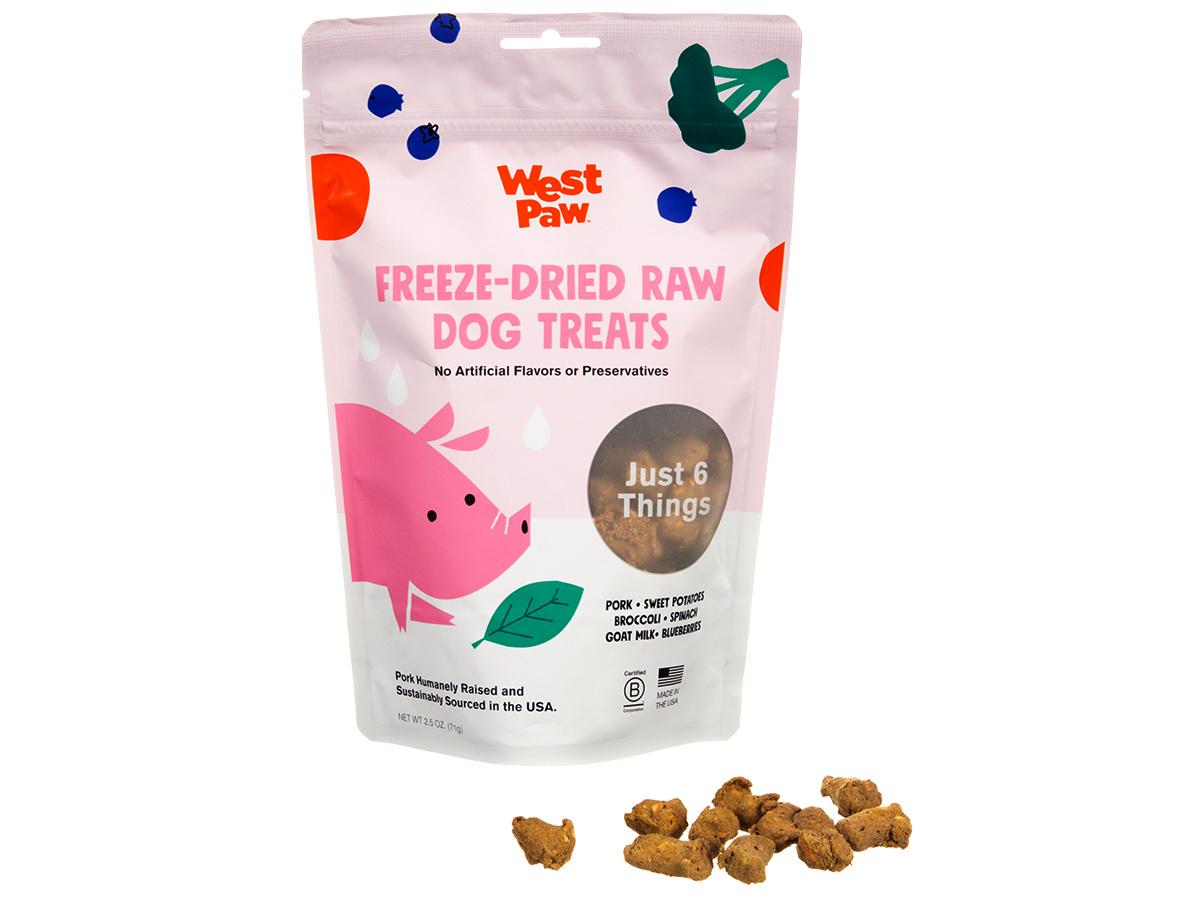 West Paw Pork with Superfood Freeze-Dried Raw Dog Treats, 2.5-oz