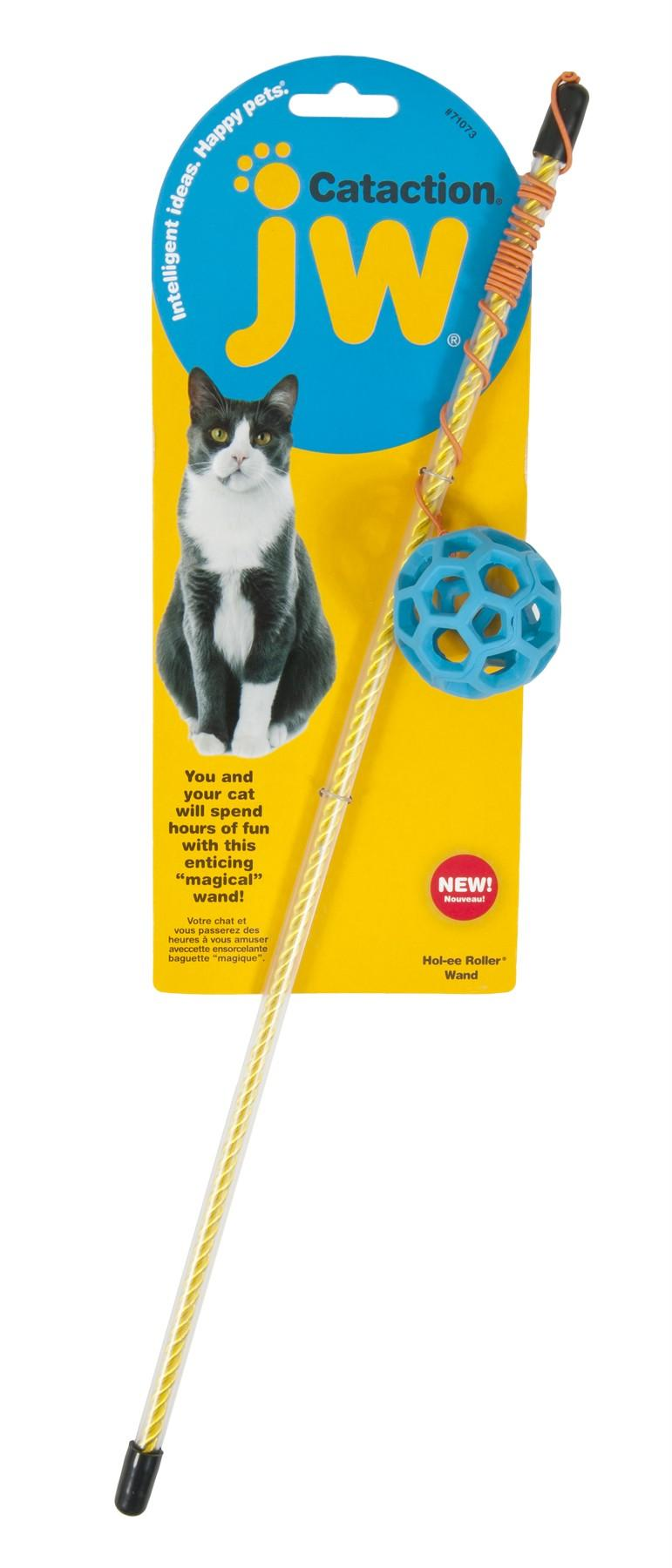 JW Pet Cataction Hol-ee Roller Ball Wand Cat Toy