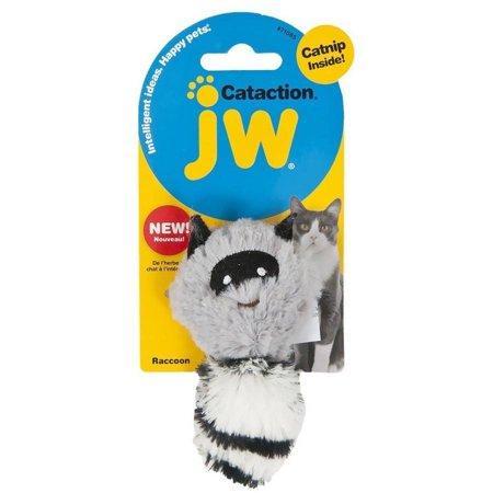 JW Pet Skunk Plush Catnip Cat Toy, Grey