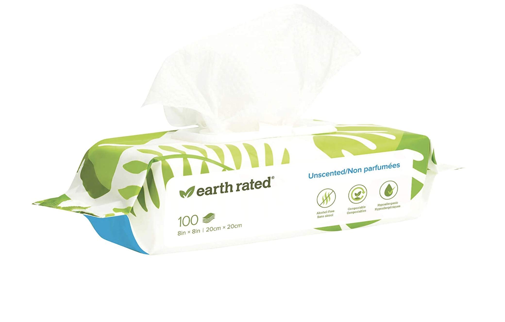 Earth Rated Compostable Pet Grooming Wipes, Unscented Image