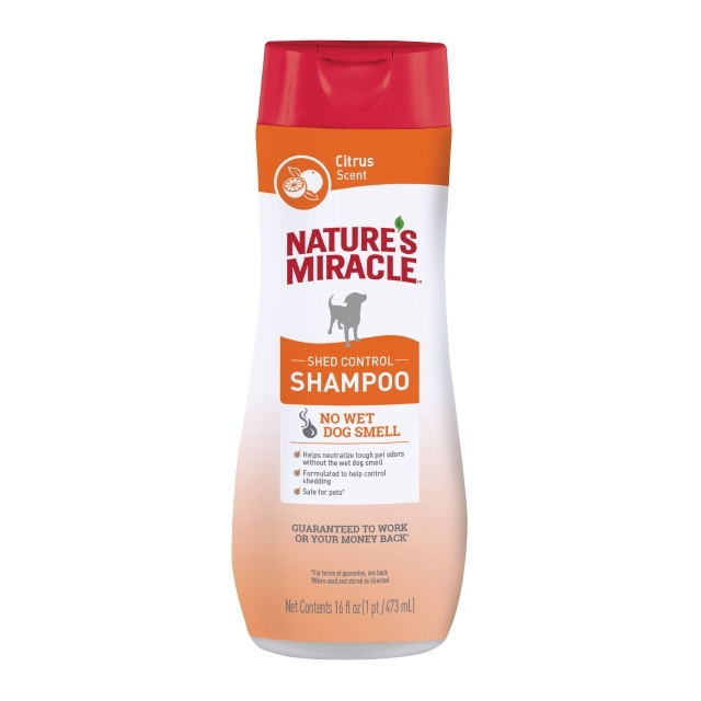 Nature's Miracle Dog Shed Control Shampoo Citrus Scent, 16-oz