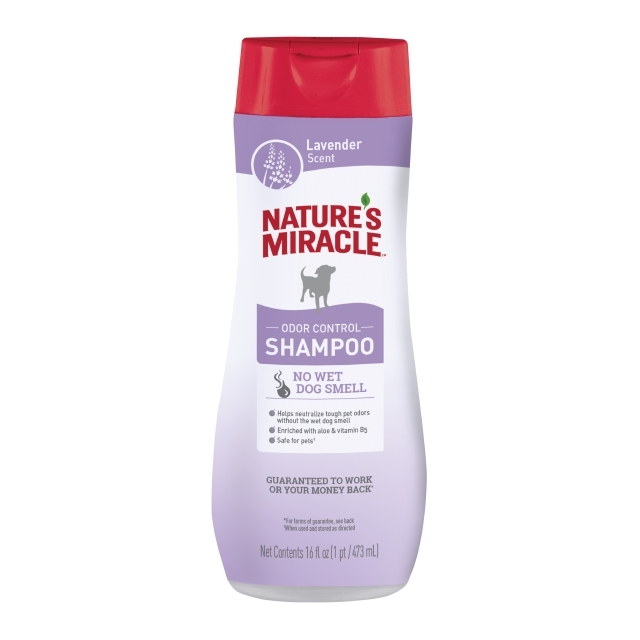 Nature's Miracle Dog Odor Control Shampoo Lavender Scent, 16-oz