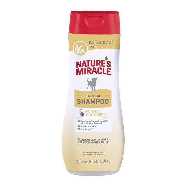 Nature's Miracle Dog Oatmeal Odor Control Shampoo Oatmeal & Aloe Scent, 16-oz