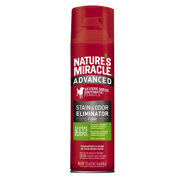 Nature's Miracle Dog Advanced Stain & Odor Foam Aerosol, 17.5-oz