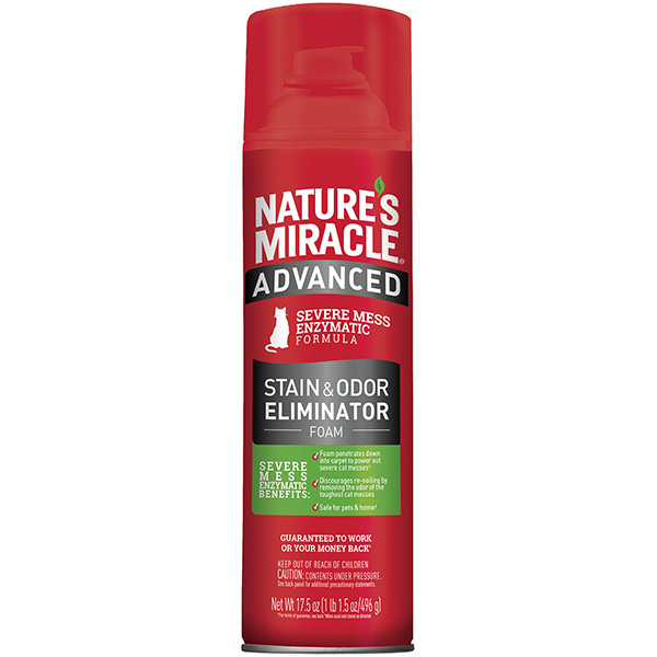 Nature's Miracle Cat Advanced Stain & Odor Eliminator Foam Aerosol Image
