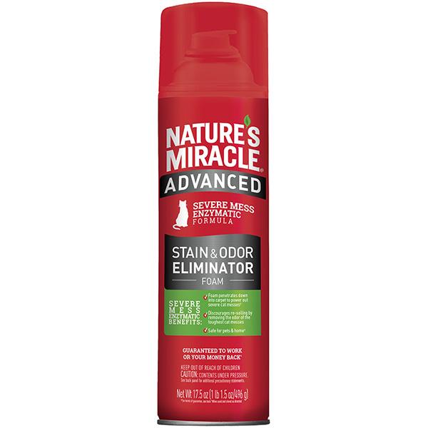 Nature's Miracle Cat Advanced Stain & Odor Eliminator Foam Aerosol, 17.5-oz