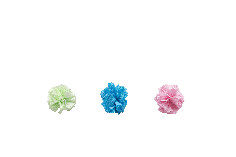Bud'z Coloured Paper Balls Cat Toy, 5-cm