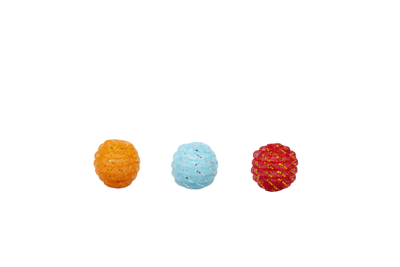 Bud'z Coloured Spiral Balls Cat Toy, 5-cm