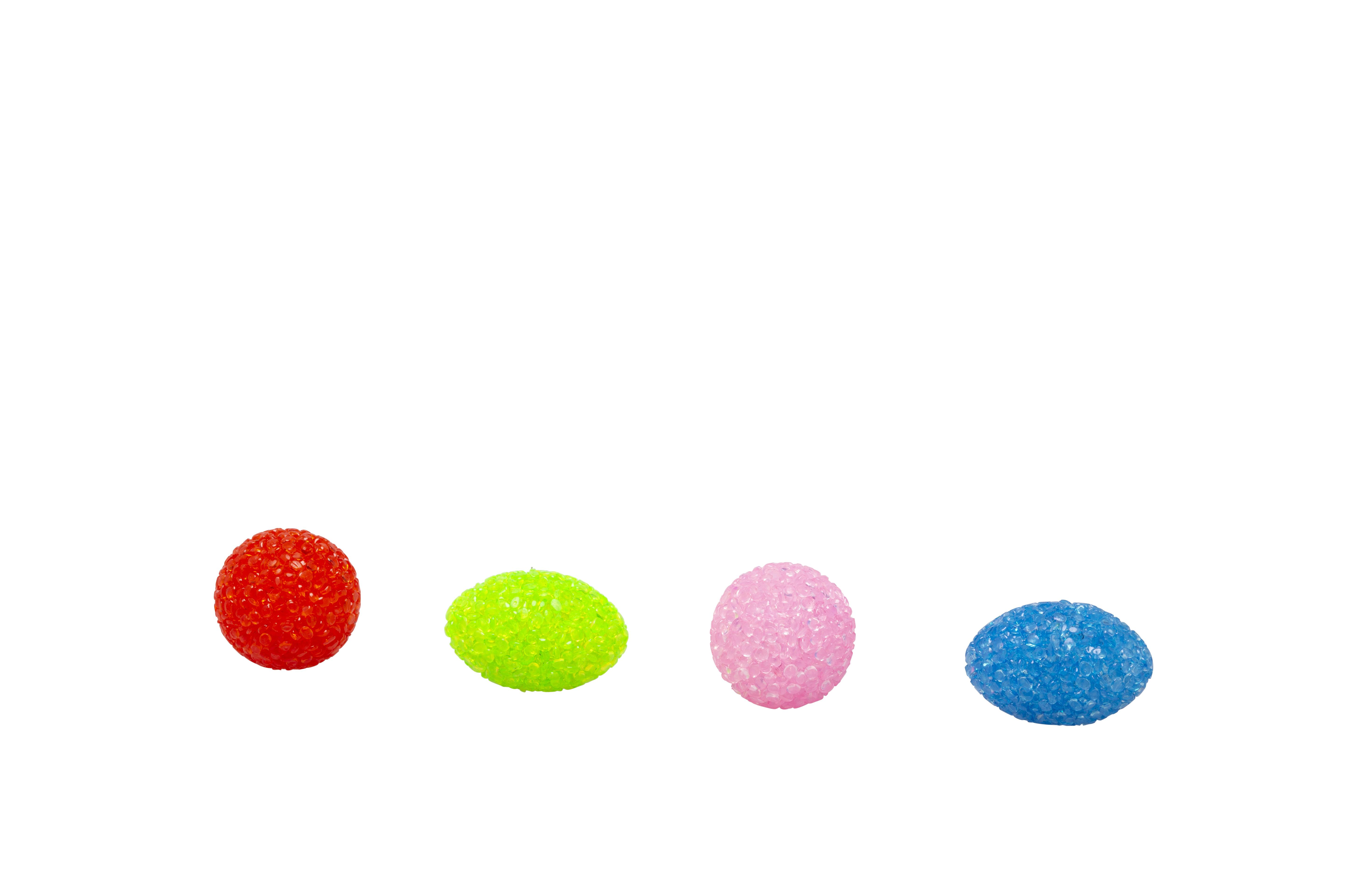 Bud'z Coloured Crystal Balls with Bell Cat Toy, 3.5-cm
