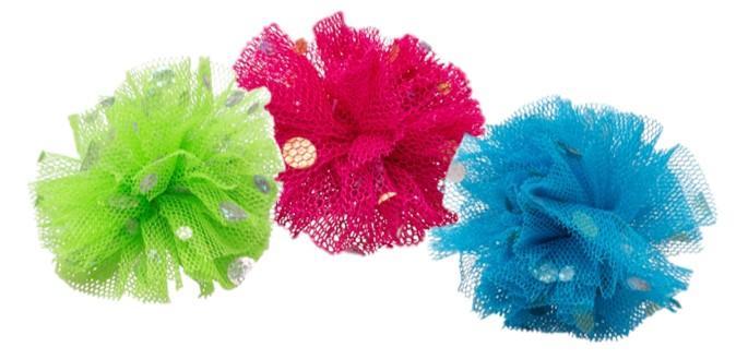 Bud'z Coloured Neting Balls Cat Toy, 5-cm