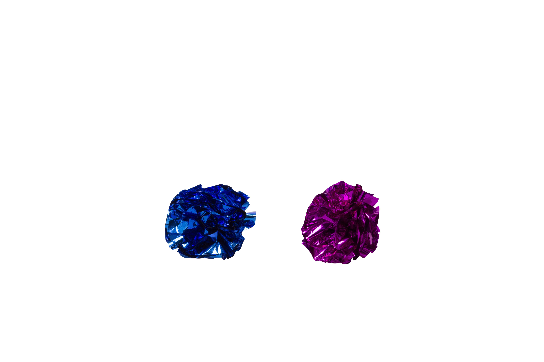 Bud'z Coloured Paper Crinkle Balls Cat Toy, 5-cm