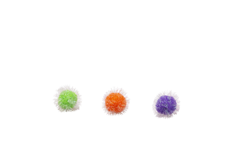 Bud'z Coloured Pompoms Cat Toy, 5-cm