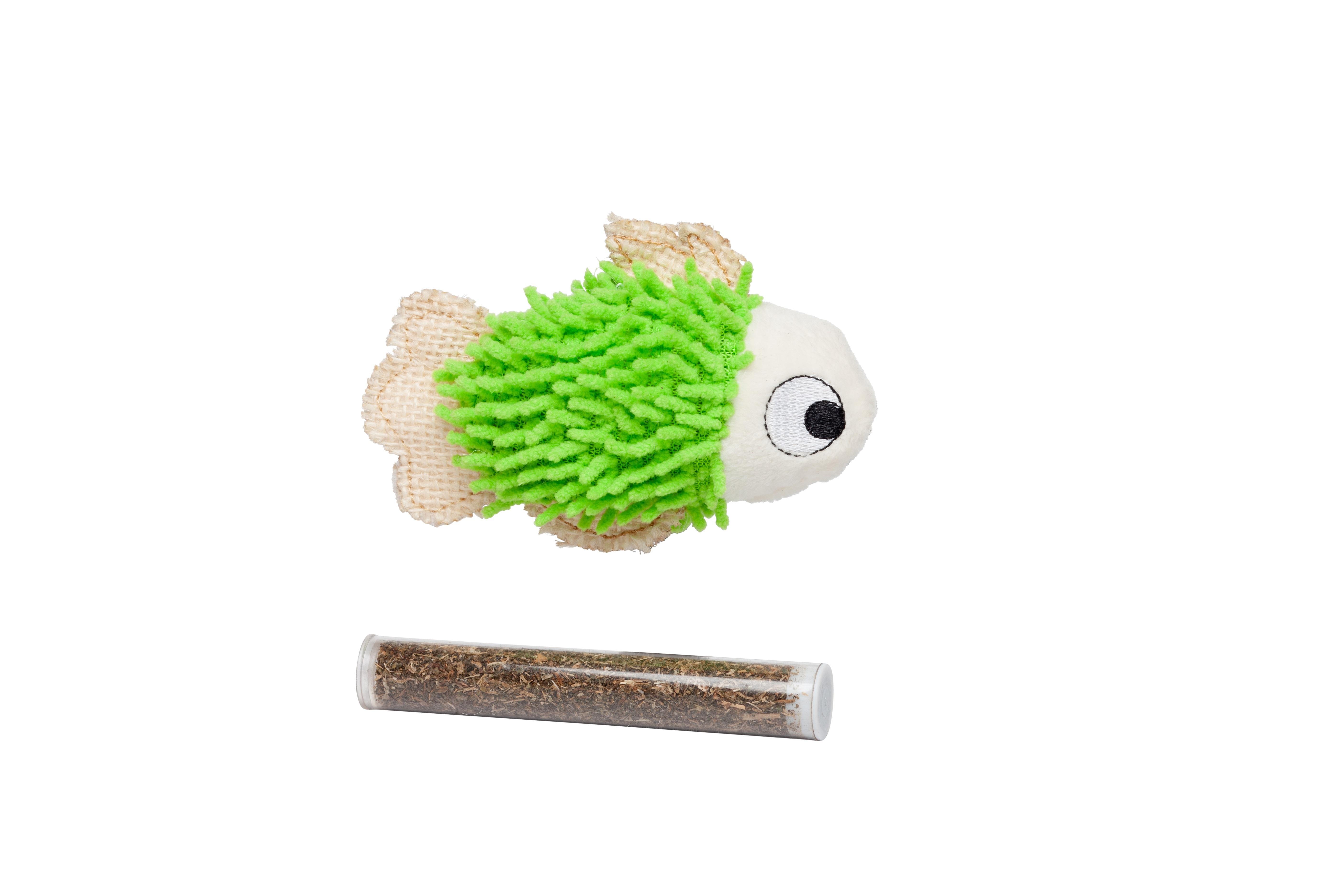 Bud'z Fish Catnip Cat Toy, Green, 11.43-cm