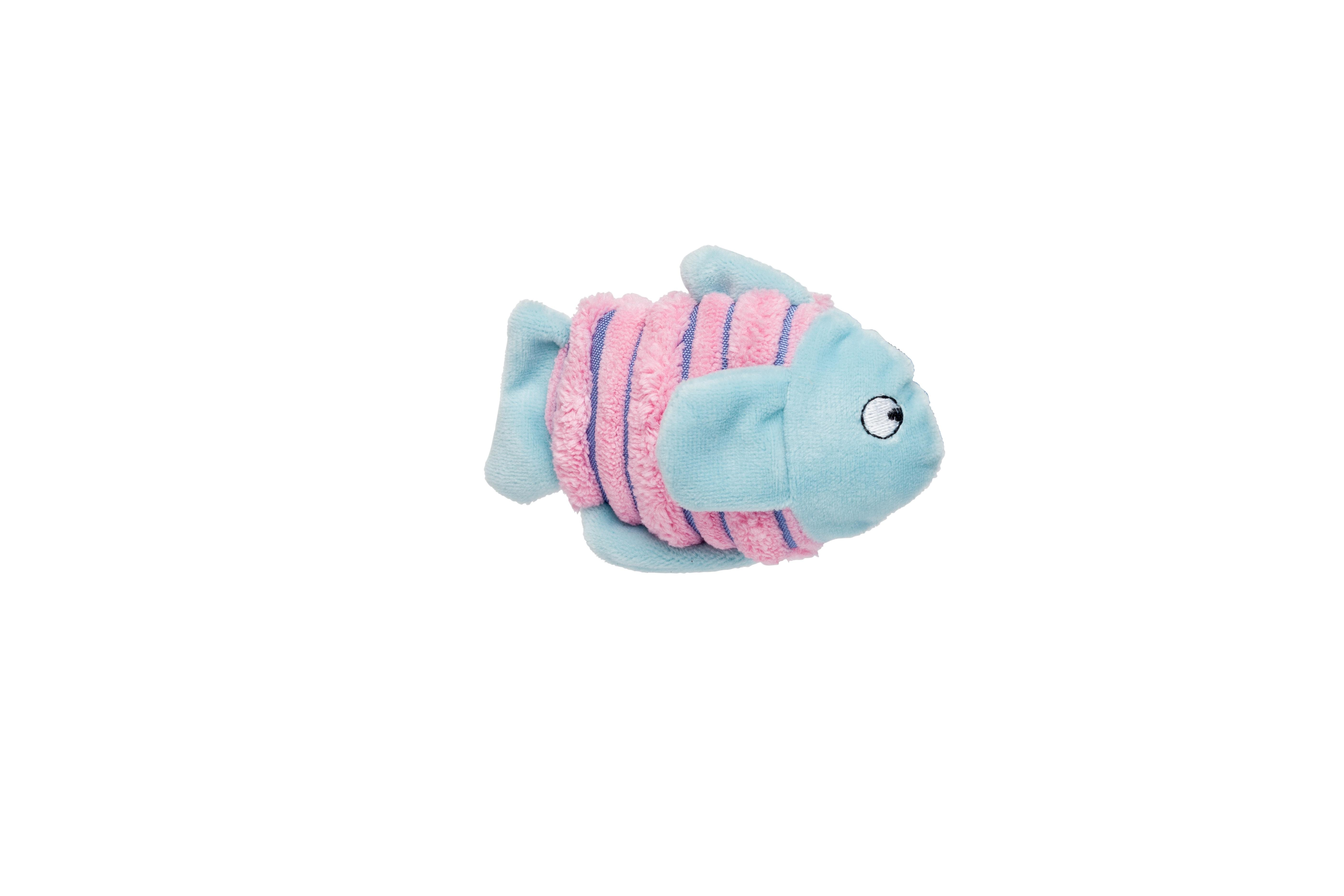 Bud'z Fish Cat Toy, Pink/Blue, 11.43-cm