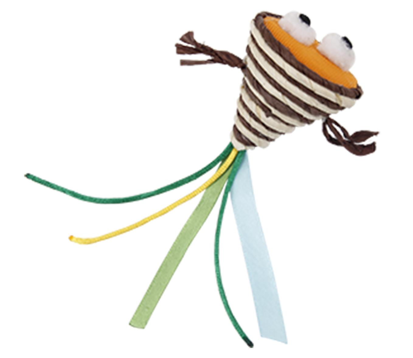 Bud'z Weaving Rope Cone with Eyes Cat Toy, 15-cm