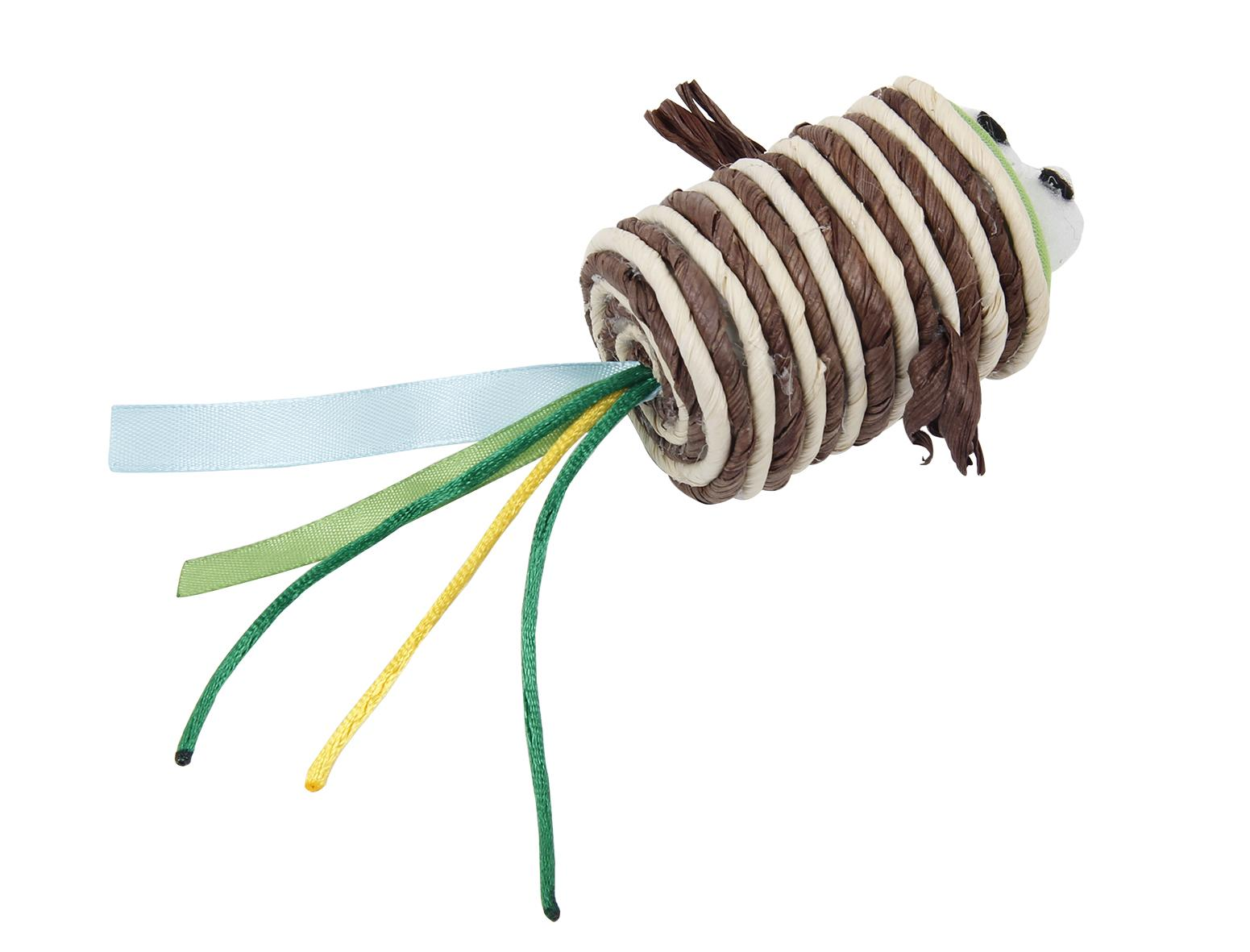 Bud'z Weaving Rope Roll with Eyes Cat Toy, 17-cm