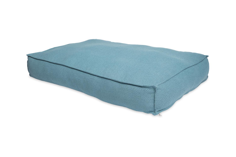 Bud'z Flat Anémone Dog Bed, Azur, 100 x 70 x 16-cm