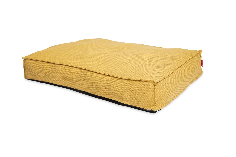 Bud'z Flat Anémone Dog Bed, Mustard, 100 x 70 x 16-cm