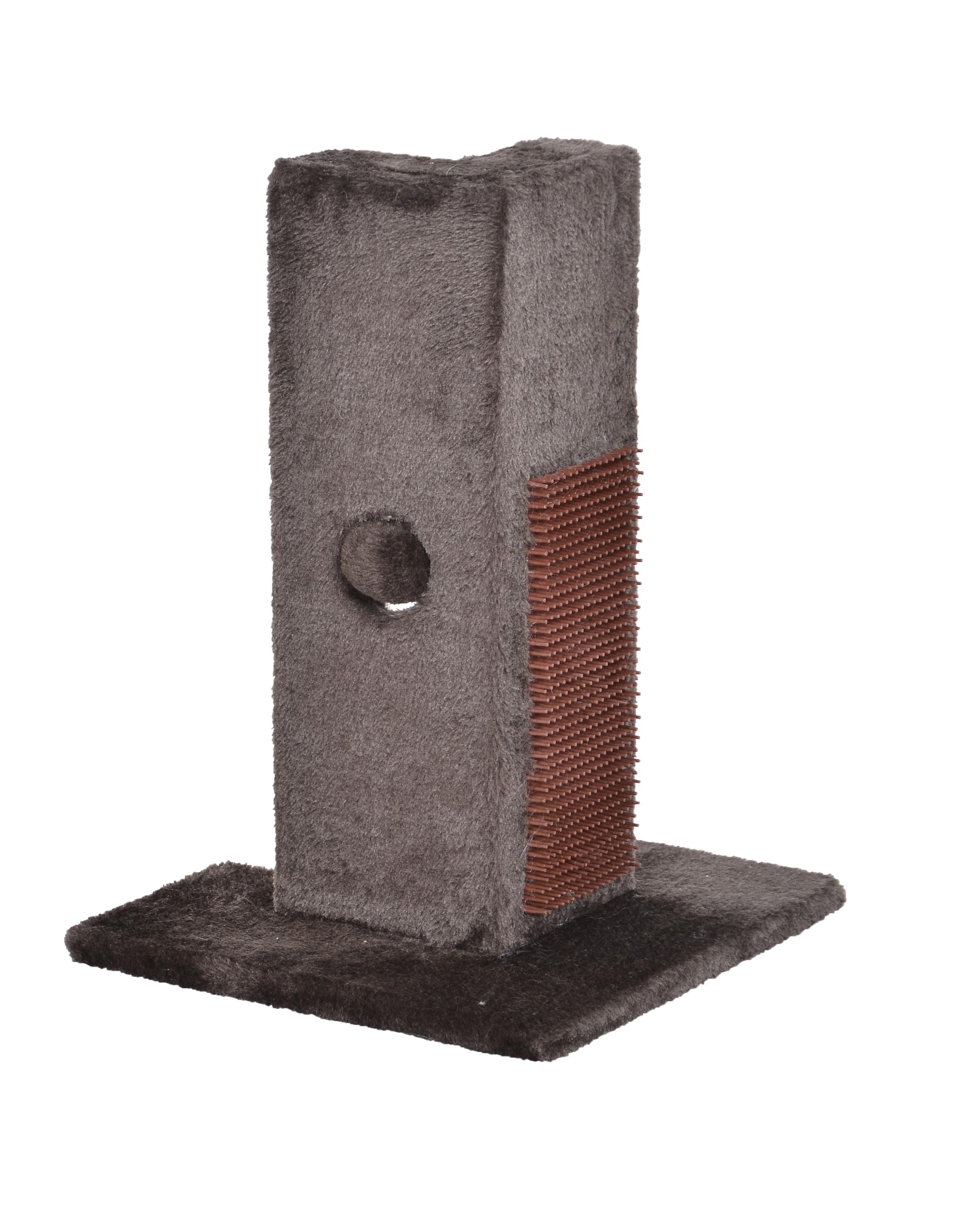Bud'z Poki Play Station Corner Protector Cat Scratcher, Brown, 30 x 30 x 41.5-cm