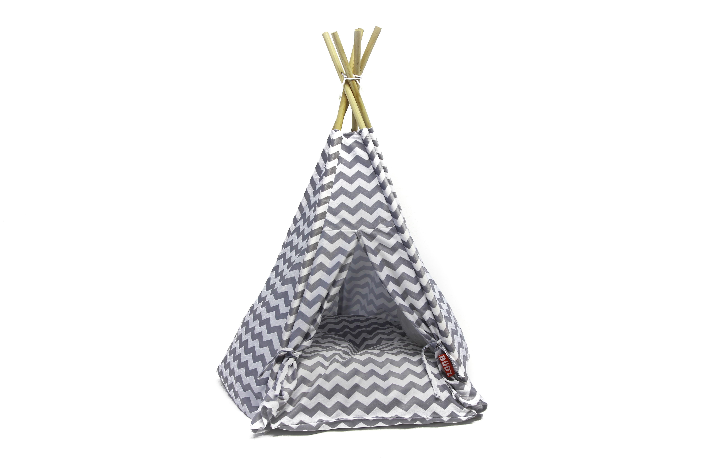 Bud'z Cat Tent, Gray, 66 x 63.5-cm