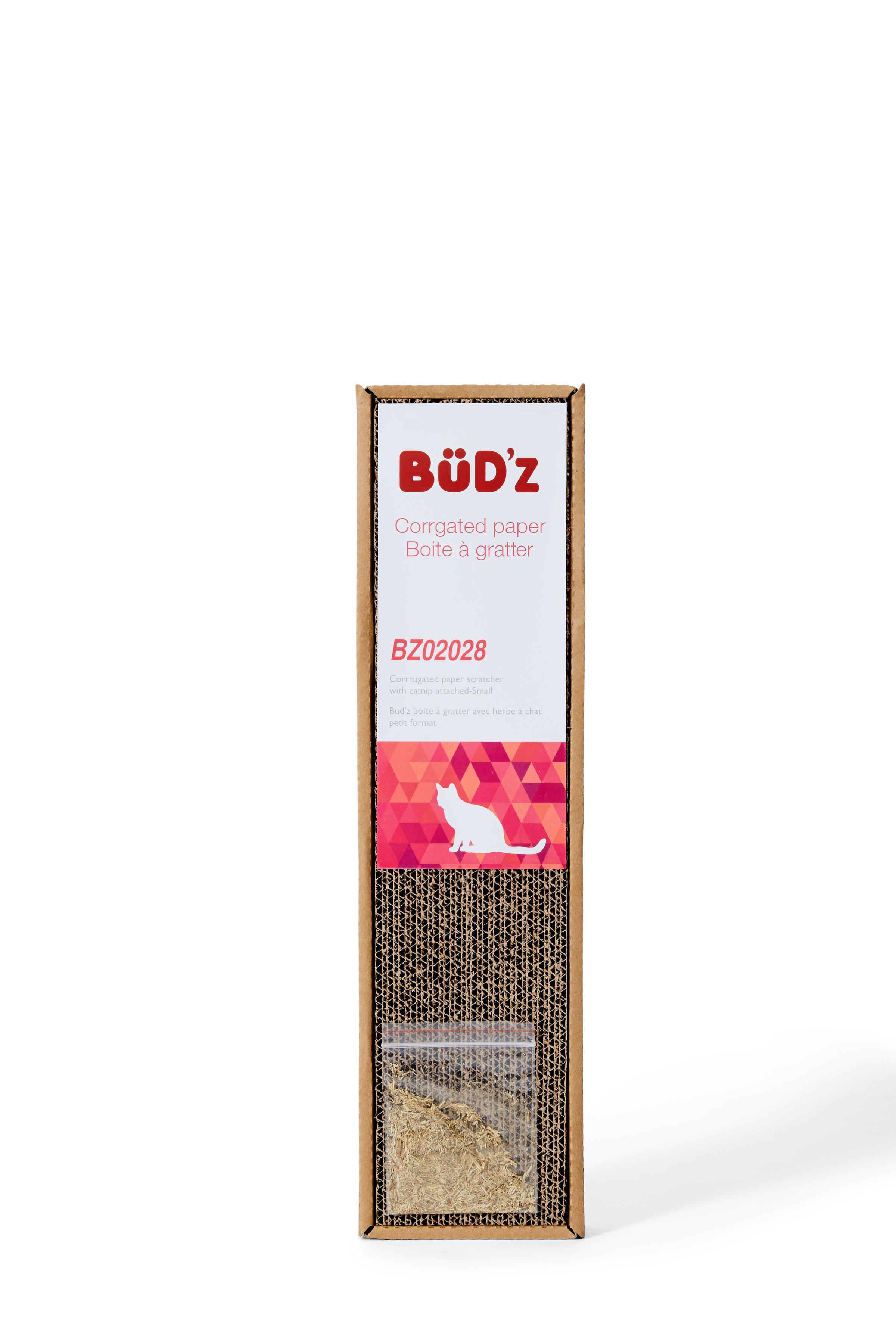 Bud'z Catnip Cat Scratch Box, 12 x 4.5 x 45.5-cm