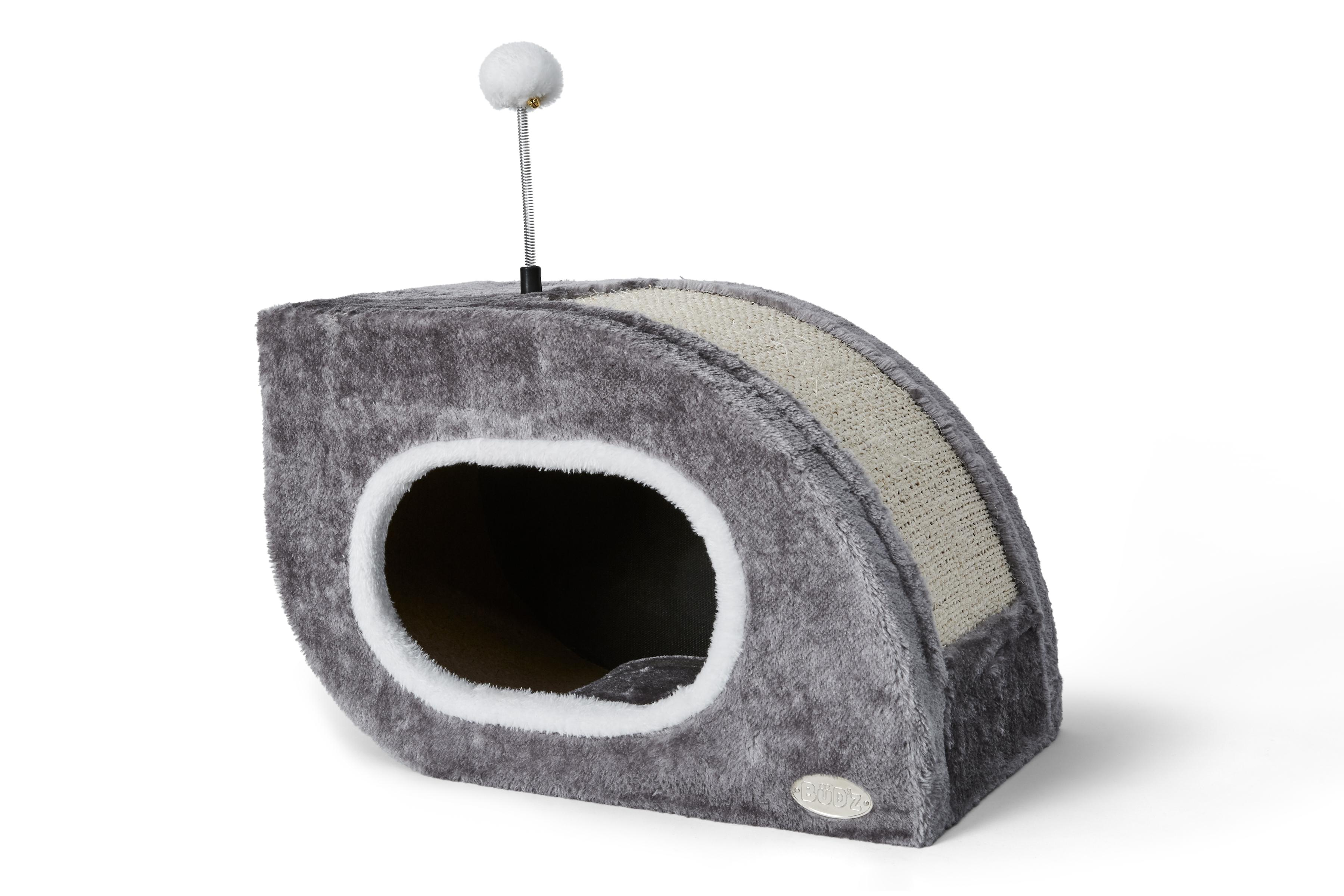 Bud'z Shelters Snail Cat Scratch Box, Grey, 44 x 26 x 30-cm (Size: 44 x 26 x 30-cm) Image