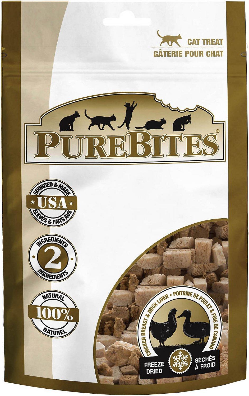 PureBites Chicken Breast & Duck Freeze-Dried Cat Treats, 1.12-oz bag Image