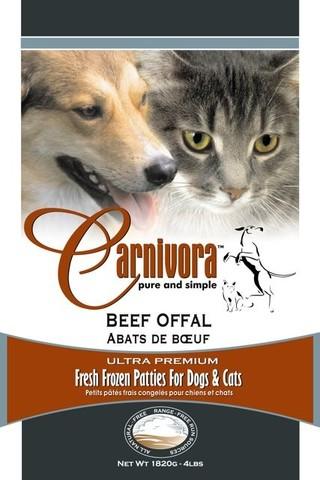 Carnivora Prairie Fed Beef Offal Frozen Cat & Dog Food, 4-lb