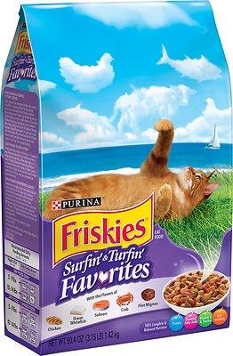 Friskies Surfin' & Turfin' Favorites Dry Cat Food, 3.15-lb bag