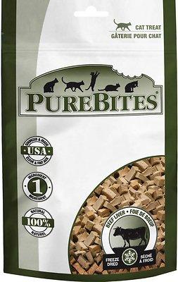 PureBites Beef Liver Freeze-Dried Cat Treats, 0.85-oz bag