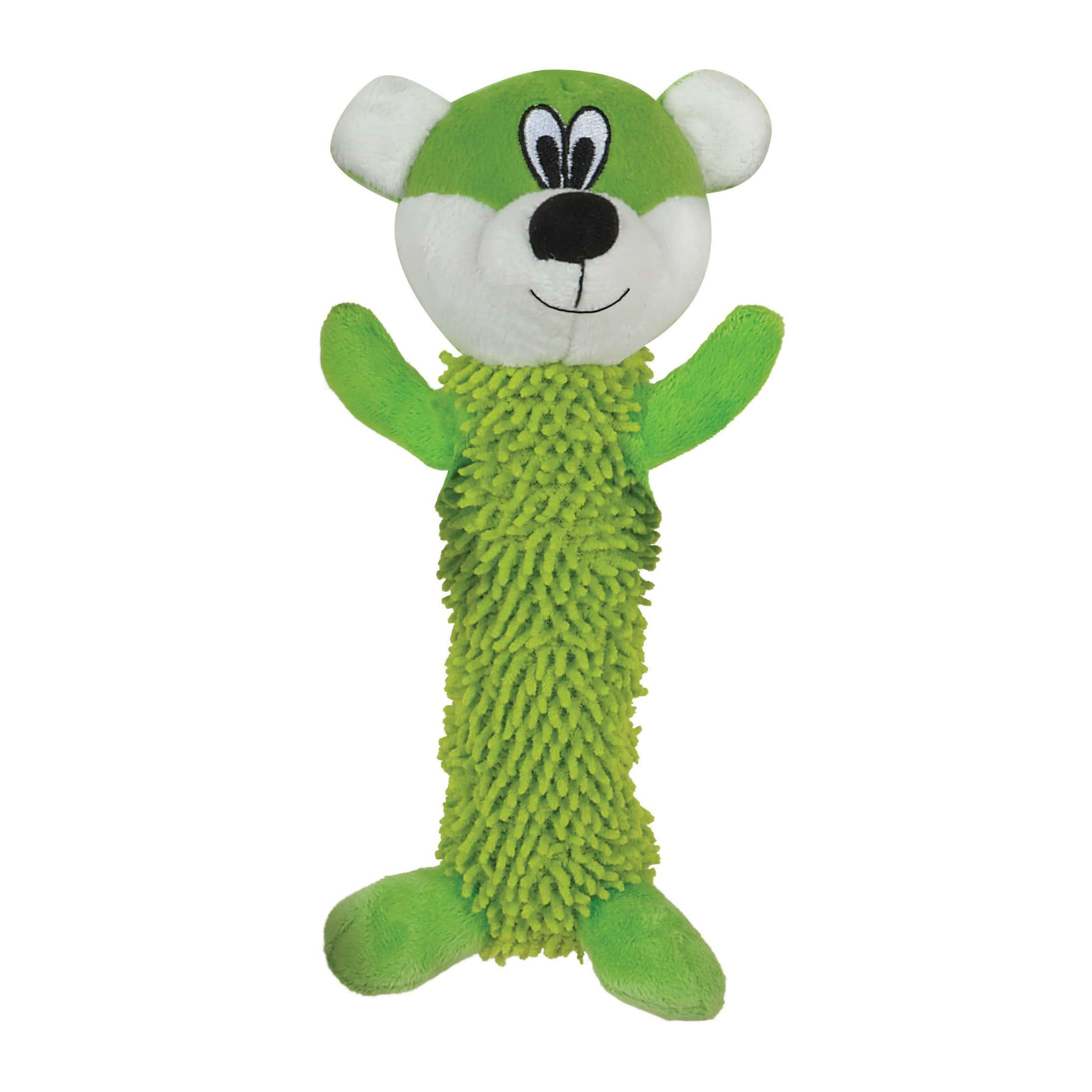 Smart Pet Love Tender-Tuffs Shaggy Bear Dog Toy, Green