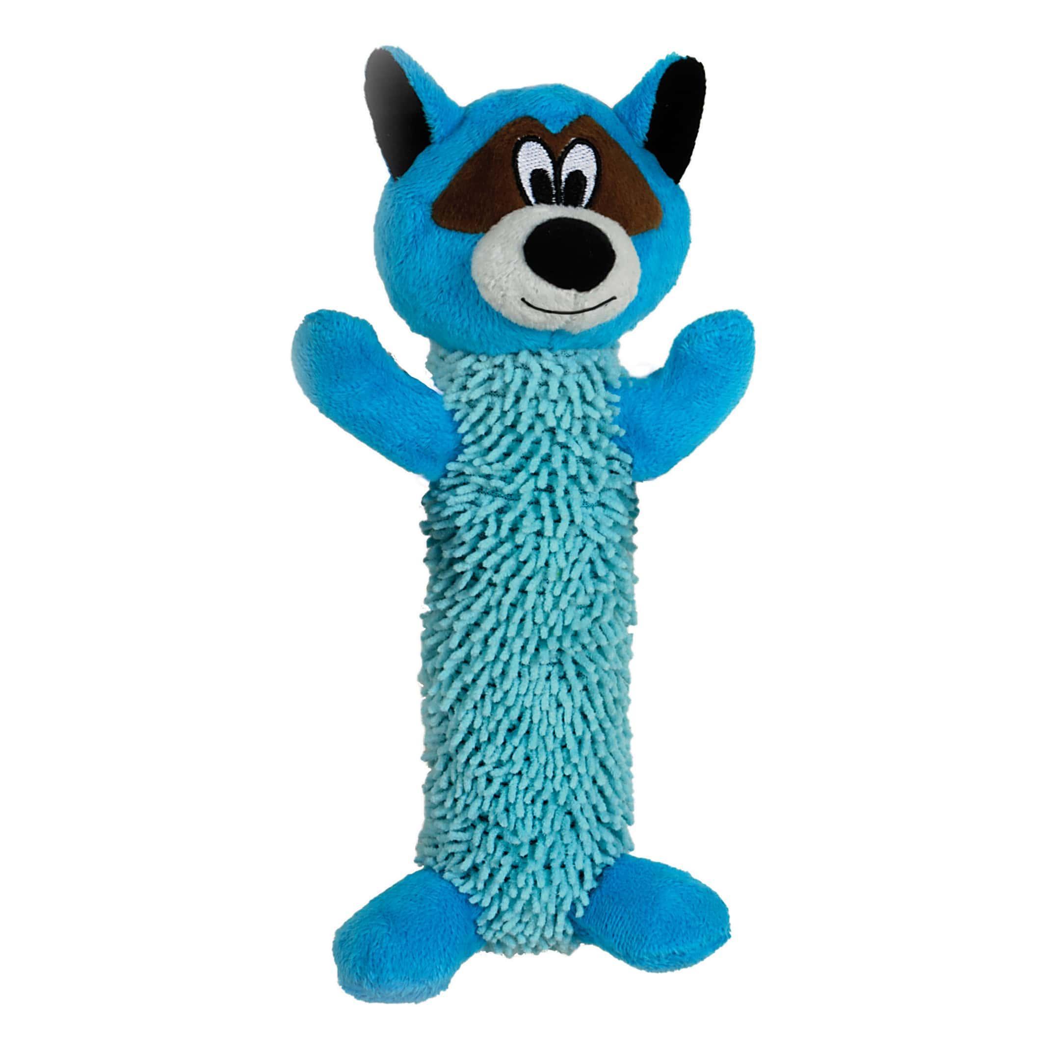 Smart Pet Love Tender-Tuffs Shaggy Raccoon Dog Toy, Blue