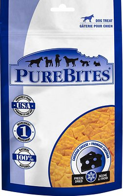 PureBites Cheddar Cheese Freeze-Dried Dog Treats, 4.2-oz bag