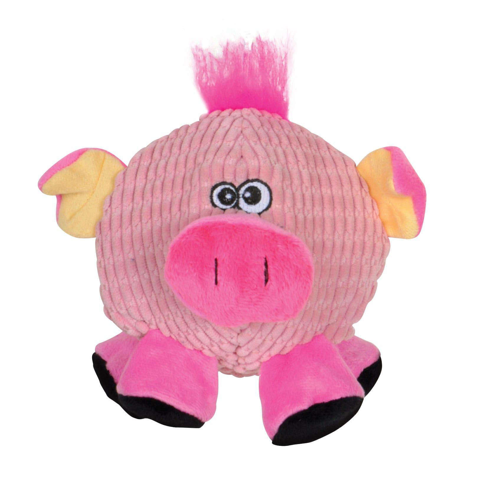 Smart Pet Love Tender-Tuffs Round Pig Dog Toy, Pink