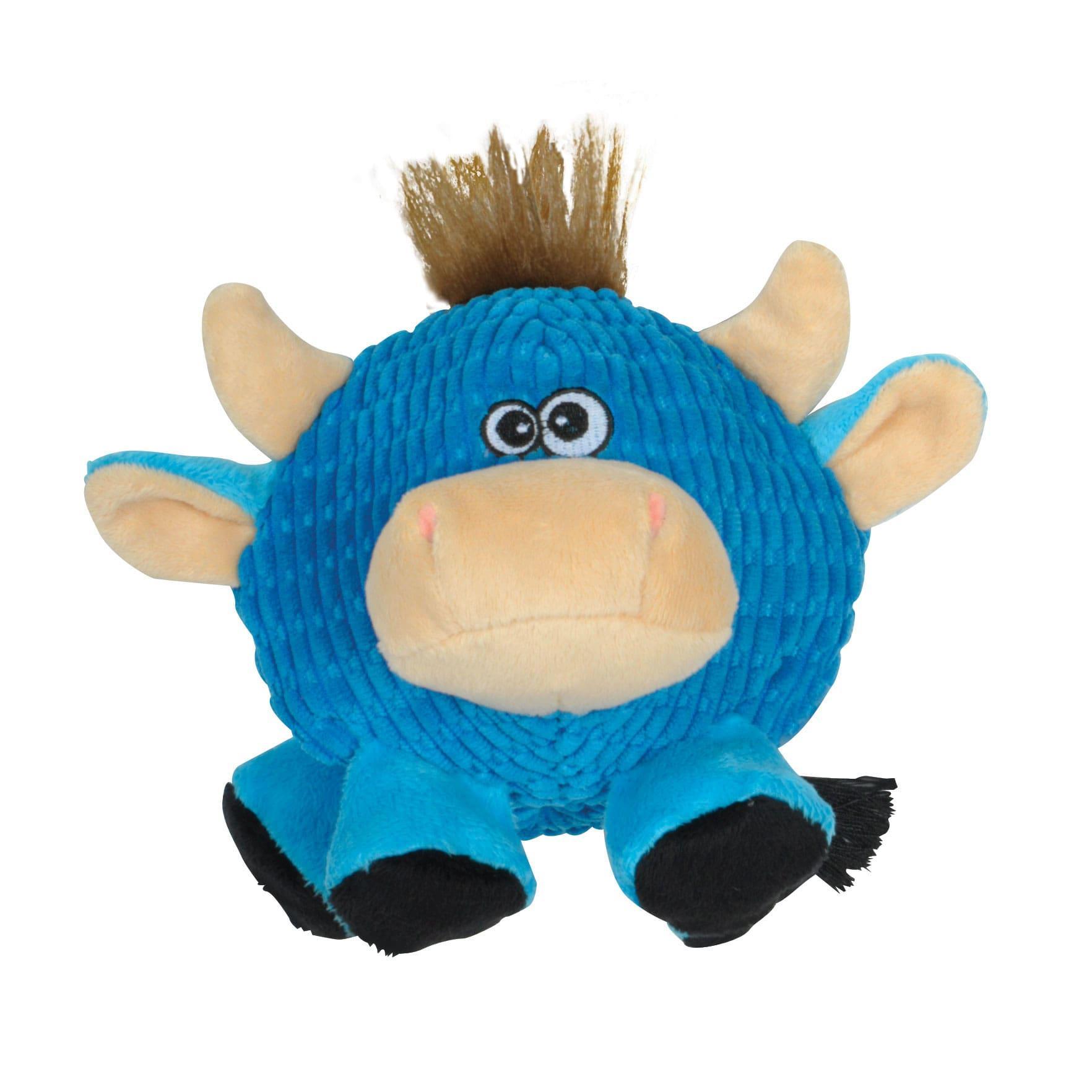 Smart Pet Love Tender-Tuffs Round Cow Dog Toy, Blue