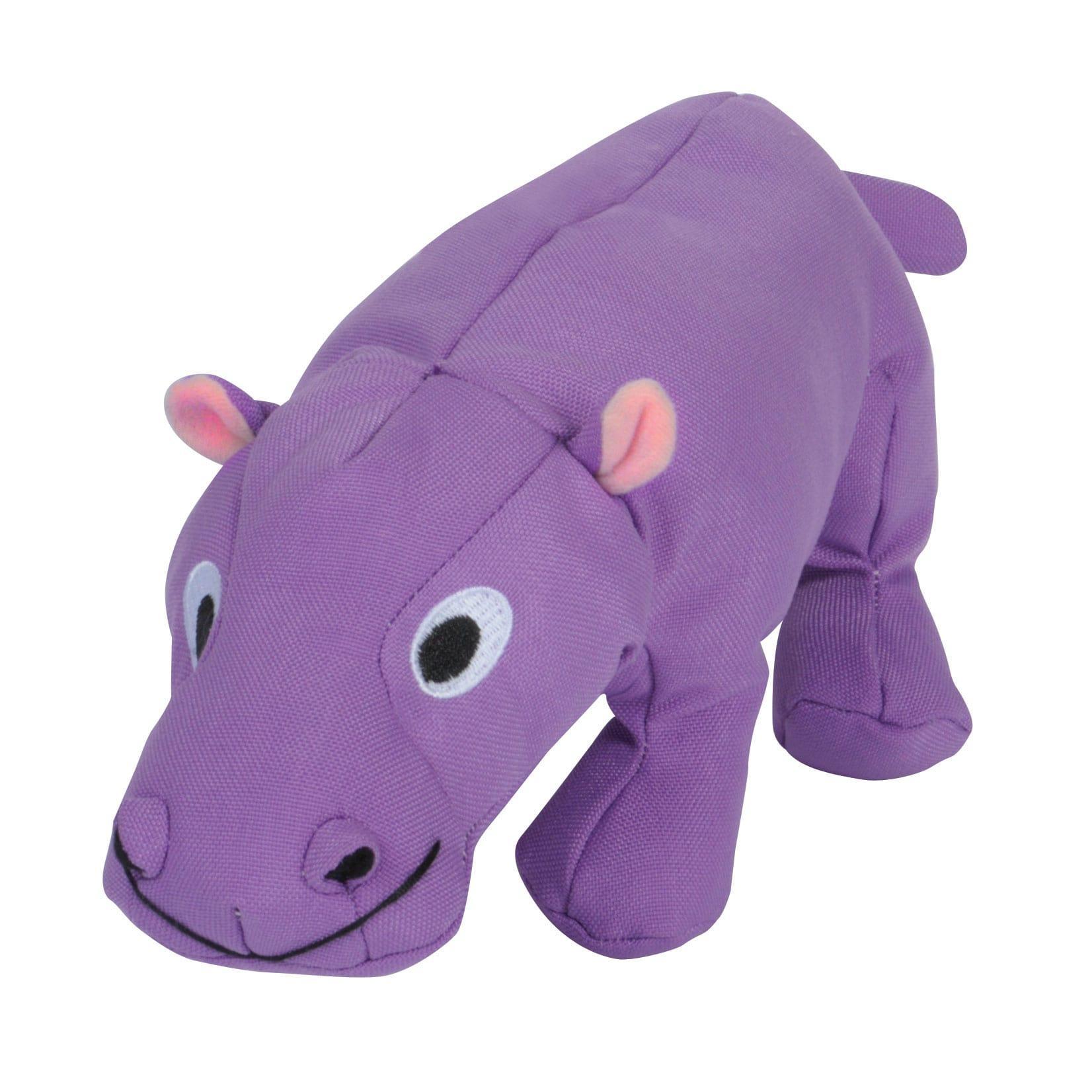 Smart Pet Love Tender-Tuffs Plump Hippo Dog Toy, Purple