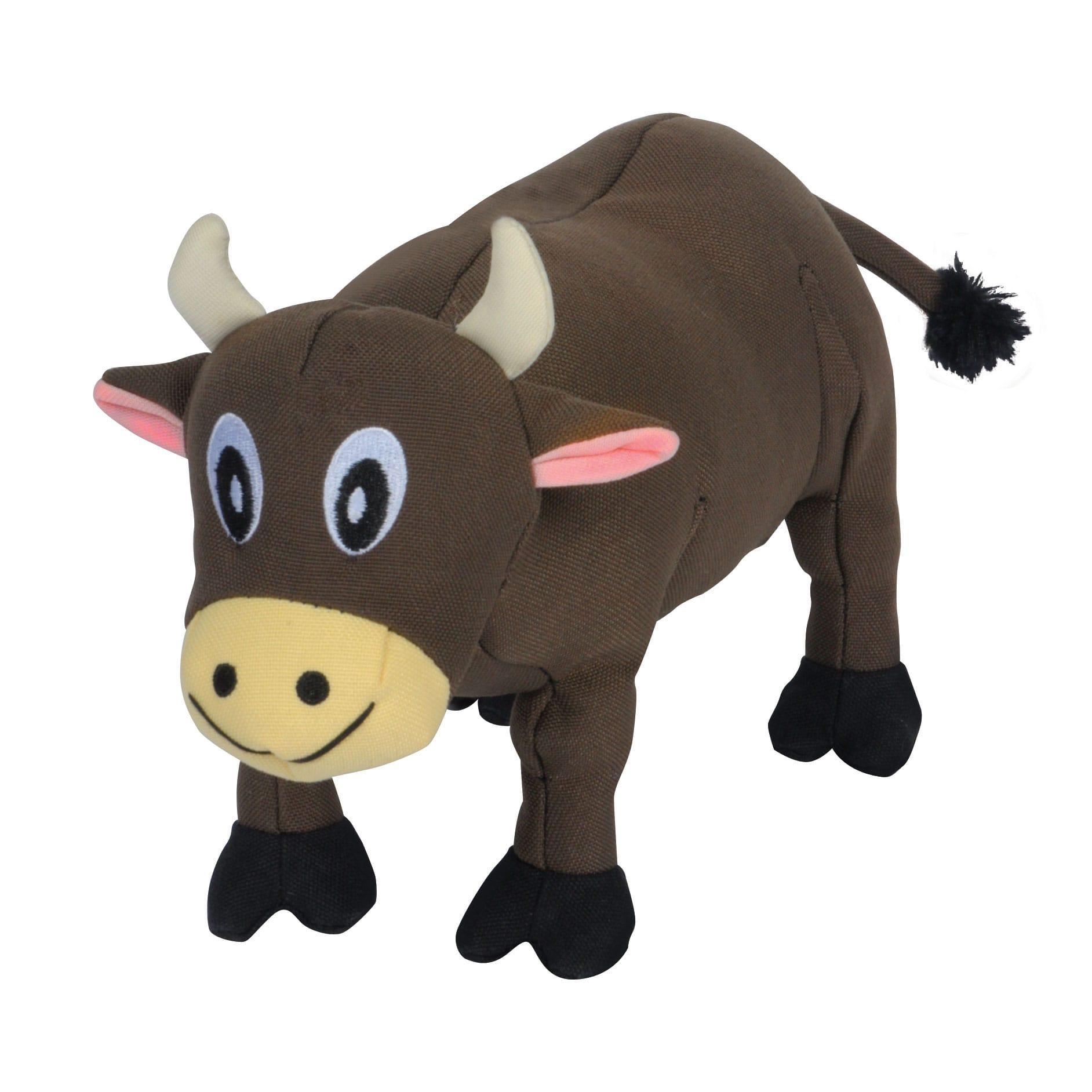 Smart Pet Love Tender-Tuffs Plump Cow Dog Toy, Brown