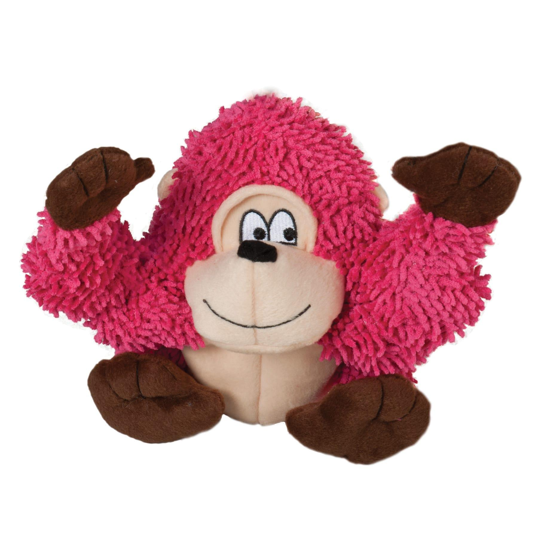 Smart Pet Love Tender-Tuffs Shaggy Gorilla Dog Toy, Pink